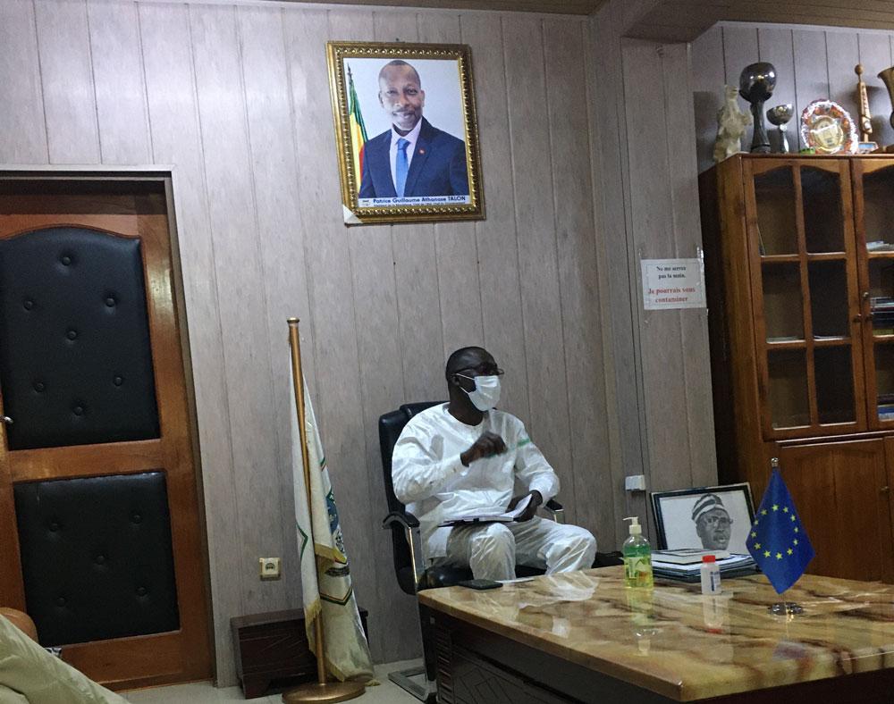 bezoek aan Inoussa Zime Chabi, de burgemeester van Parakou